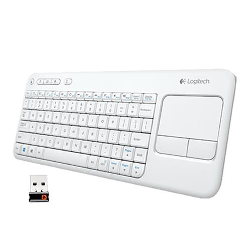 K400 PLUS Wireless Touch Keyboard (cod.920-007136) Bianca