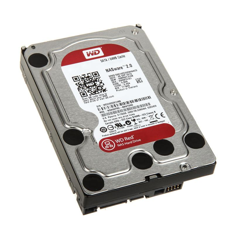 3.5   4000.0Gb (4.0Tb) SATA3 64MB (WD40EFRX) Red NAS