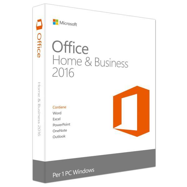 MS OFFICE Home and BUSINESS 2016 (PKC) Medialess Multilingue - cod. T5D-02801