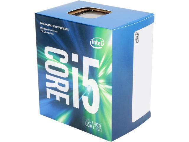 (LGA1151/2) i5-7400 Core4 (3.5GHz Turbo, 4 thread, QuadCore, 65W) Kaby Lake - Box con dissipatore