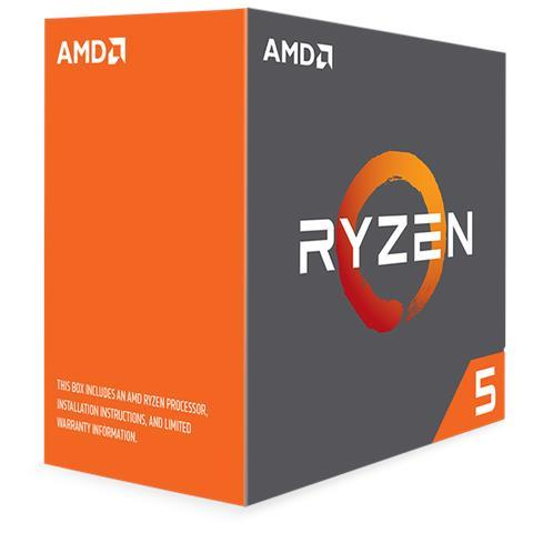 (LGA AM4) Ryzen 5 1600X Core6 (3.6Ghz, 12threads, 95W) Box senza dissipatore