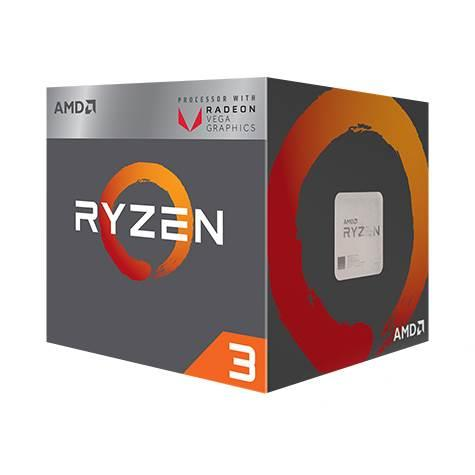 (LGA AM4) Ryzen 3 VEGA 2200G Core4 (3.5Ghz, 4threads, 65W) Box con dissipatore