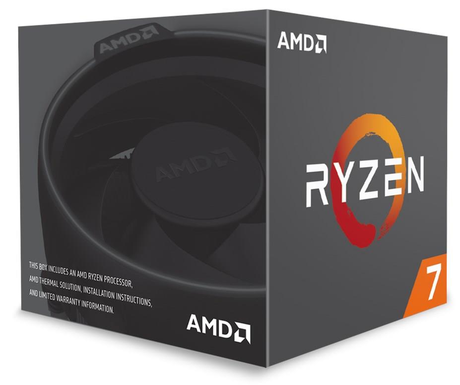 (LGA AM4/2) Ryzen+ 7 2700 Core8 (4.1Ghz, 16threads, 65W) Box con dissipatore Spire LED