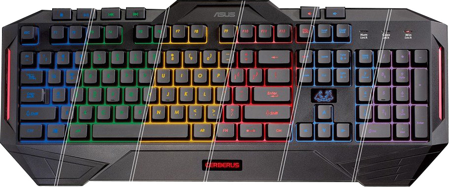 Keyboard GAMING - Cerberus MK II - Led Multicolor (90YH0131-B2UA00) Layout UK