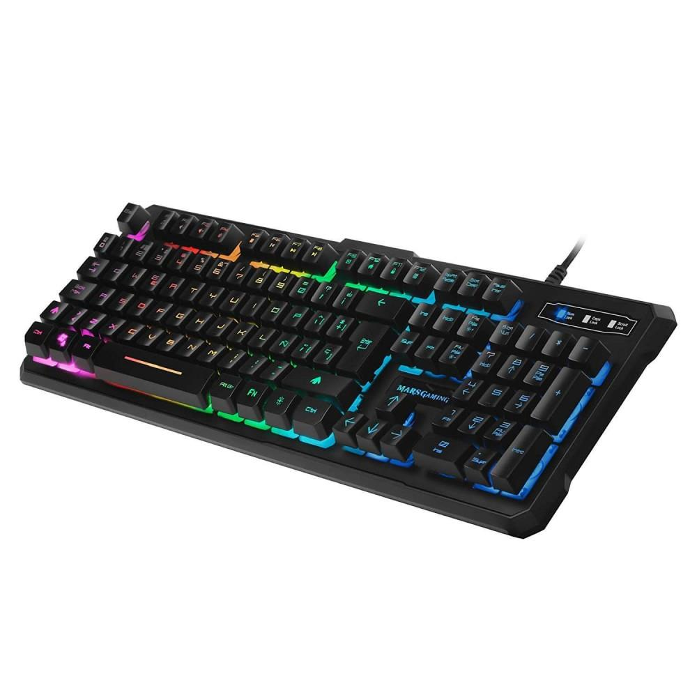 TASTIERA GAMING IBRIDA - MK218IT - RGB - switch H-Mechanical Red - Layout italiano