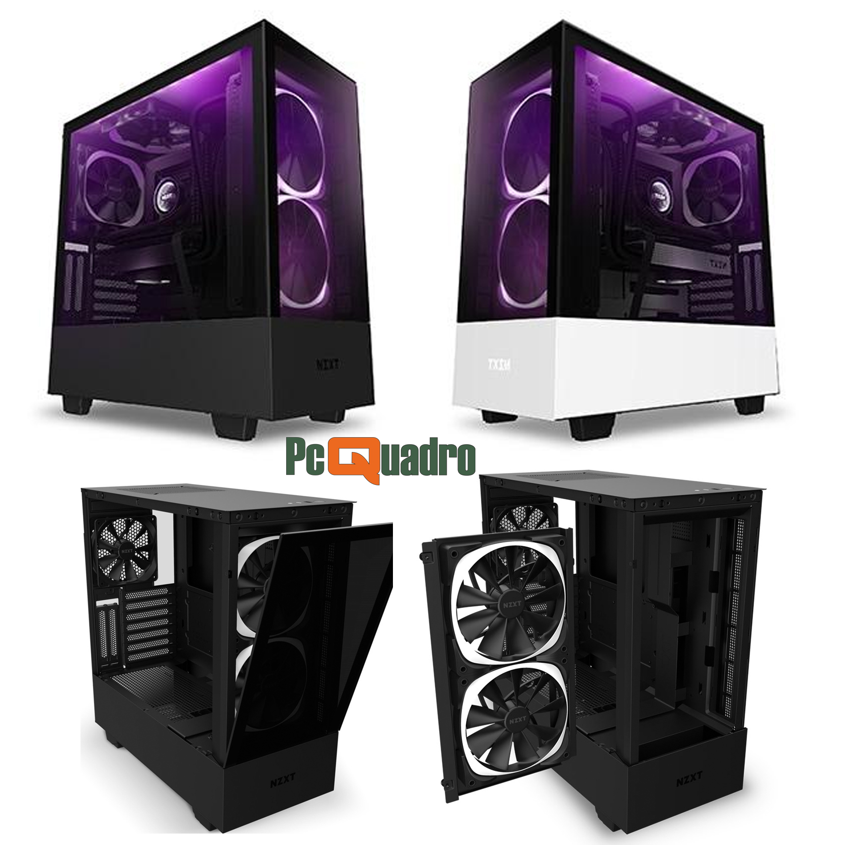 Middle tower - H510 ELITE - Black/Black (NO Alimentatore)