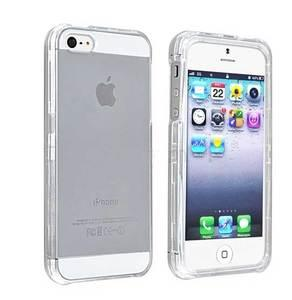 COVER trasparente in plastica rigida per iPHONE 5 (cod.i5-01WH)