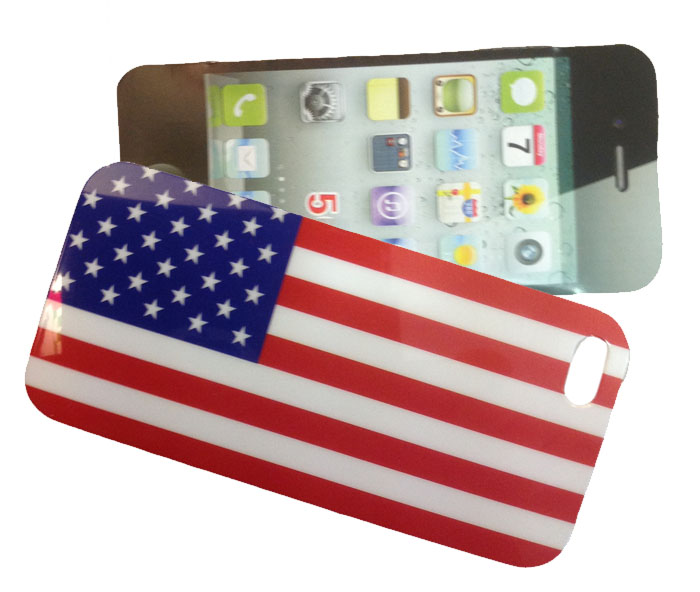 COVER bandiera USA in plastica rigida per iPHONE 5 (cod.i5-BAND)